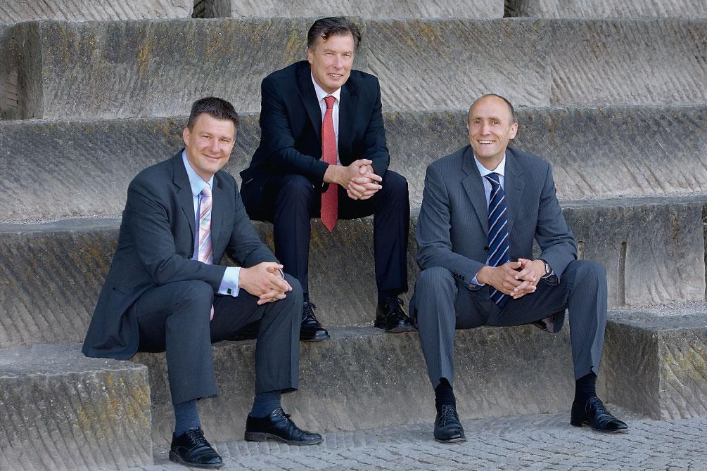 Drei Geschäftsführer im Unternehmen Reck & Co.