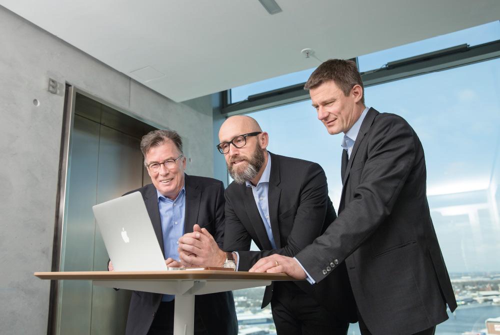 Harald von Seydlitz-Kurzbach, Franz Kasten und Marc Friedrich im Meeting